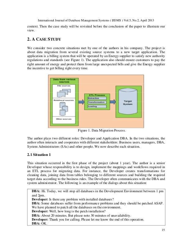 building a case for database migration essay