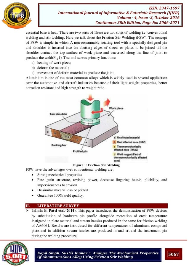 friction stir welding research papers Article in international journal of manufacturing research friction stir welding design of documents similar to friction stir welding paper.