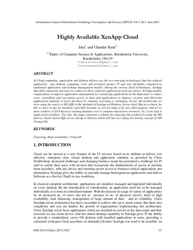 Highly Available XenApp Cloud