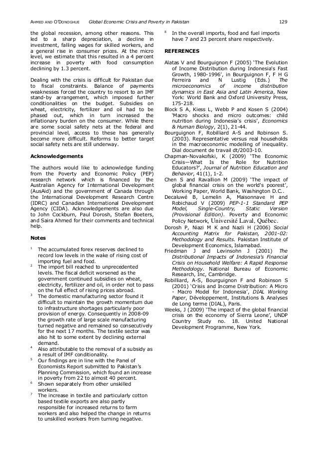 economic crisis pakistan essay