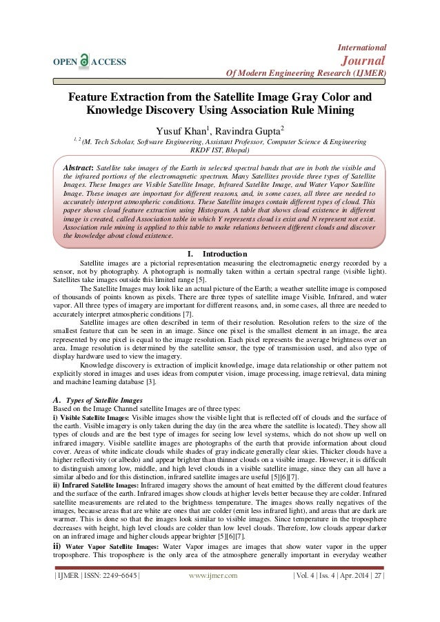 Feature Extraction from the Satellite Image Gray Color and  Knowledge Discovery Using Association Rule Mining