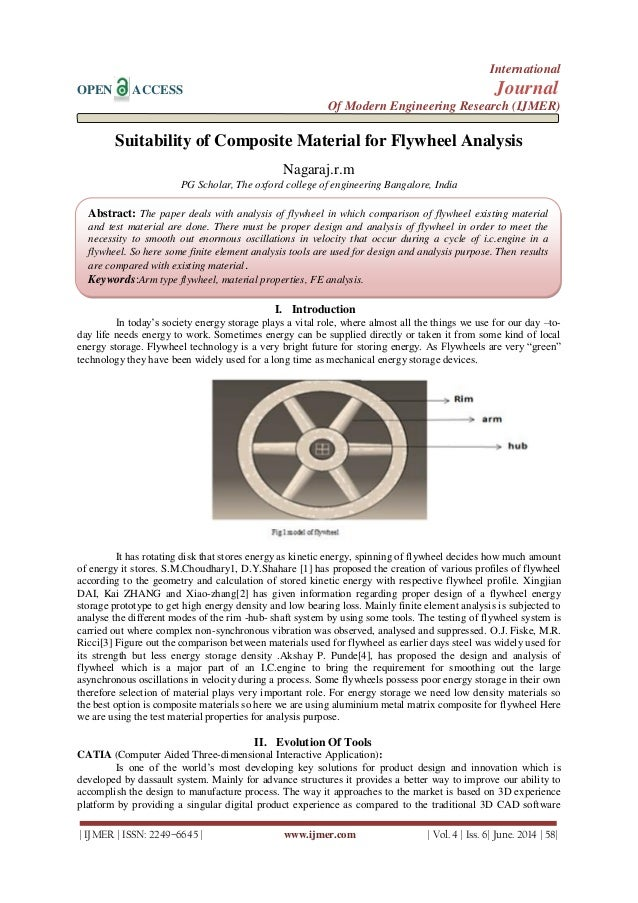 Suitability of Composite Material for Flywheel Analysis