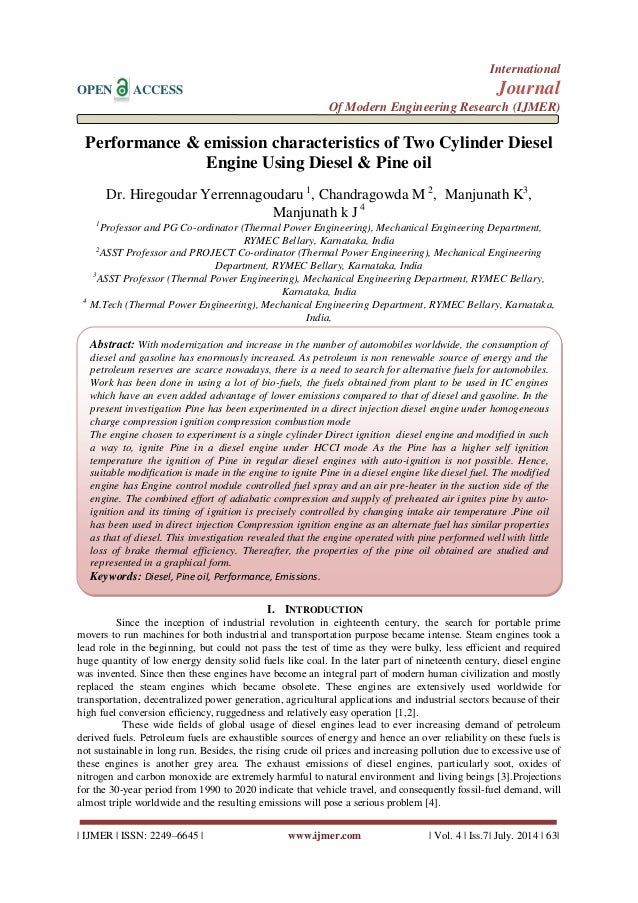 diesel engine research paper