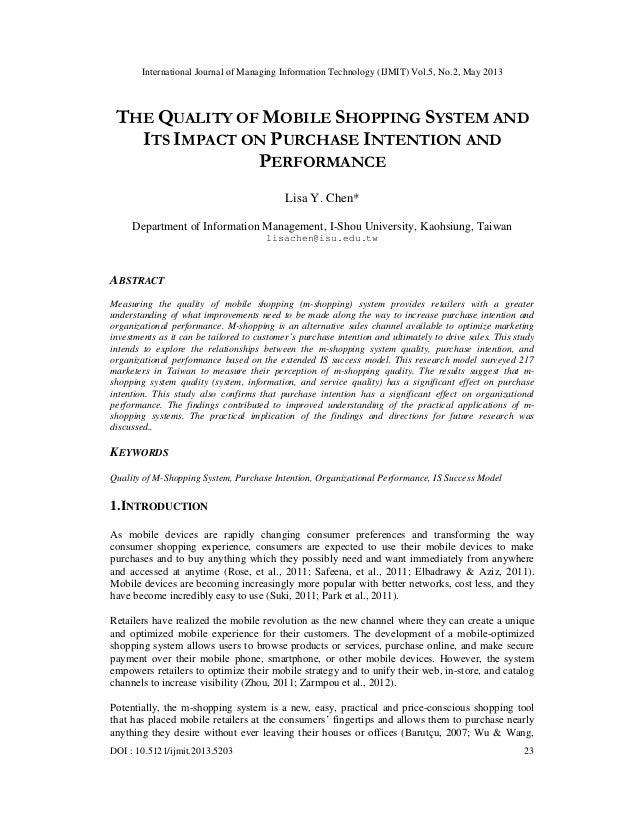 International Journal of Managing Information Technology (IJMIT) Vol.5, No.2, May 2013DOI : 10.5121/ijmit.2013.5203 23THE ...
