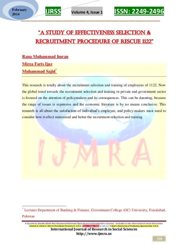 1122 pakistan, Effectiveness of Human Resource practices