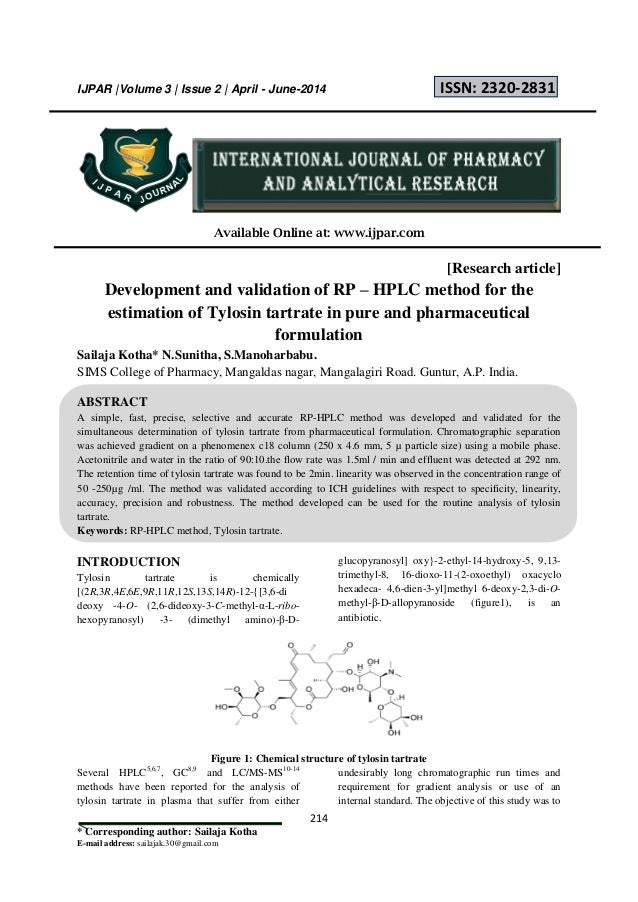 development of validated rp hplc method for The developed rp-hplc method provides a convenient and efficient method for the estimation of ivabradine hydrochloride in dosage form there was no interference from the excipients used in the tablet formulation and hence the method is suitable for analysis of tablets.