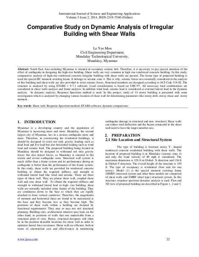 Comparative Study on Dynamic Analysis of Irregular Building with Shear Walls