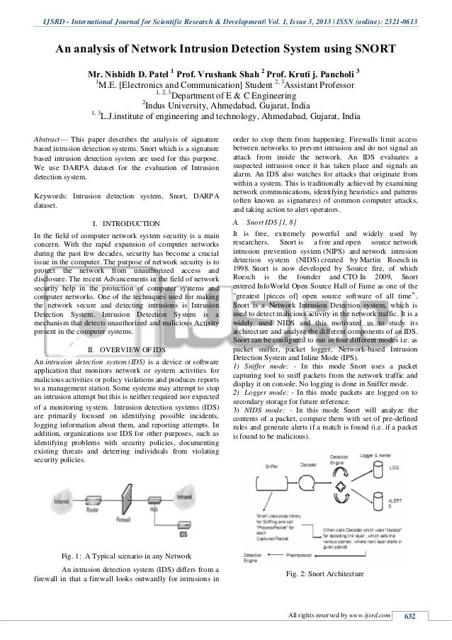 analysis of intrusion detection systems ids The evaluation of computer intrusion detection systems (which we refer to as   revirt: enabling intrusion analysis through virtual-machine logging and replay,   towards optimal monitoring in cooperative ids for resource.