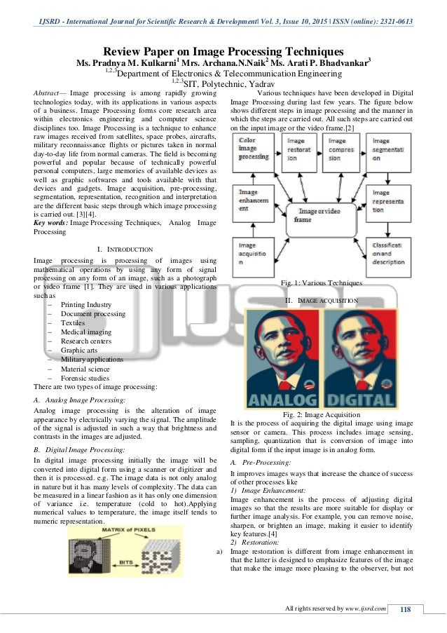 Image processing research papers 2011