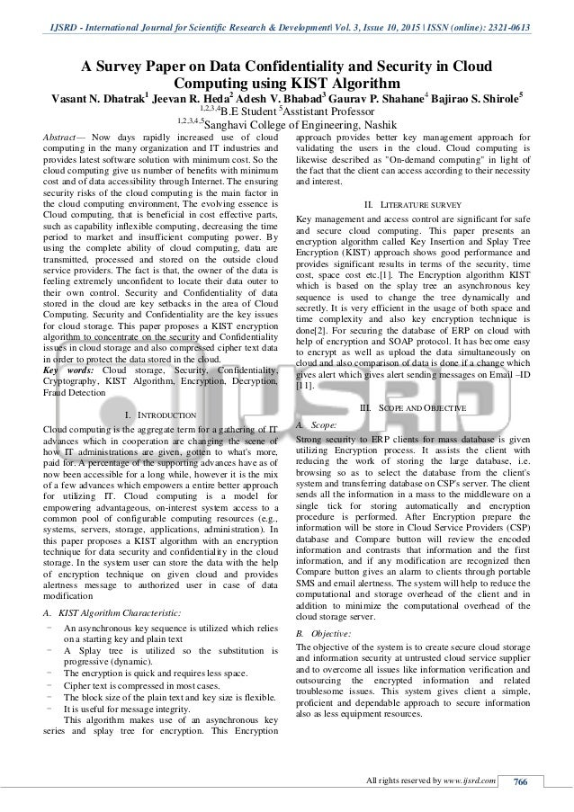 security and privacy in cloud computing research papers International journal of advanced research in computer science and software engineering research paper available online at: wwwijarcssecom an overview of security and privacy issues in mobile cloud computing environment dr m gopichand professor &head department of it, vcoe, shamshabad.
