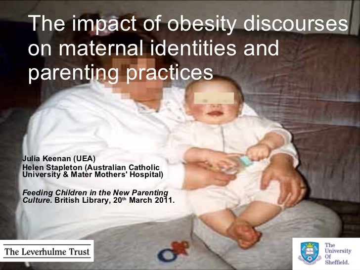 The impact of obesity discourses on maternal identities and parenting practices Julia Keenan (UEA)  Helen Stapleton (Austr...