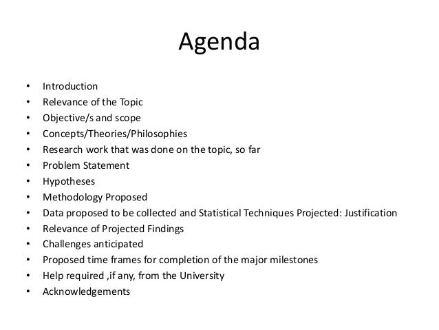 What is proposal in research