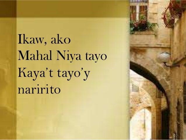 Ikaw, ako Mahal Niya tayo Kaya't tayo'y naririto