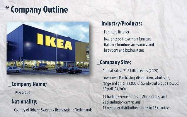 the strategic position of the ikea company Definition of strategic position: the overall intended objectives and approach to a situation most business managers will carefully develop a well thought out strategic position and take considerable steps to communicate it to staff .