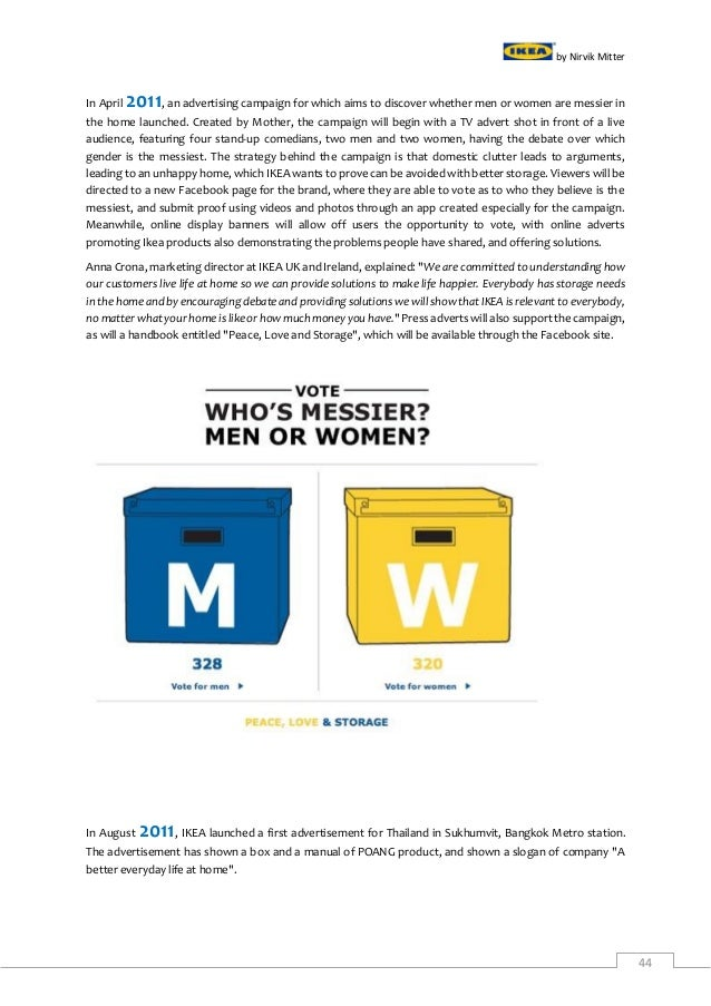 ikea brand management analysis Ikea is one brand represented by many boards and management inter ikea holding bv owns the ikea inter ikea group financial summary fy16 5 43 factories owned.