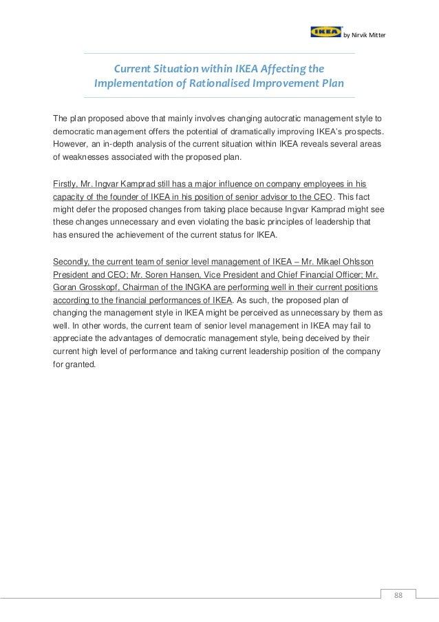 analysis of ikea mission statement