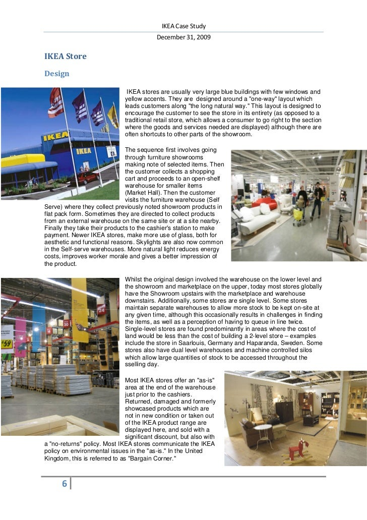 The Retail Store Design And Construction Ikea Case Study