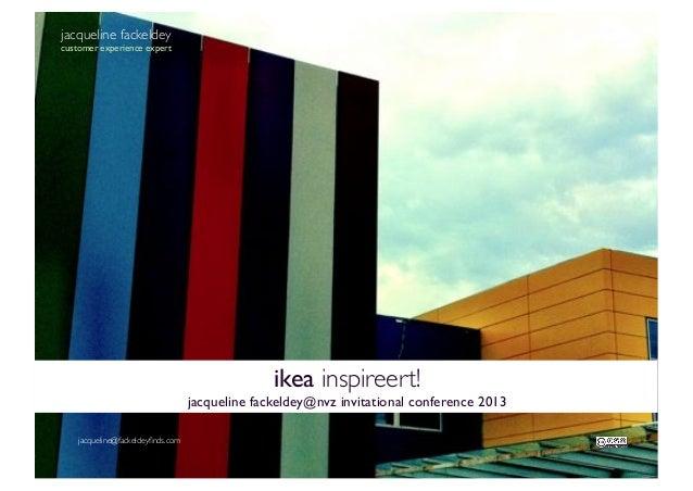 Ikea inspireert de zorg! lezing jacqueline fackeldey op jaarcongres van de nvz 122013