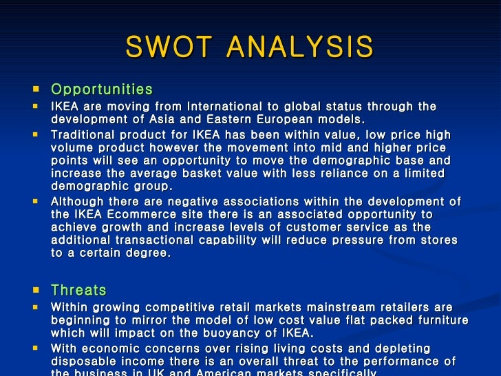 swot analysis of ikea hk This article is about a concise swot analysis of ikea it aims to look into the  strengths and the weaknesses of ikea similarly, it aims to.
