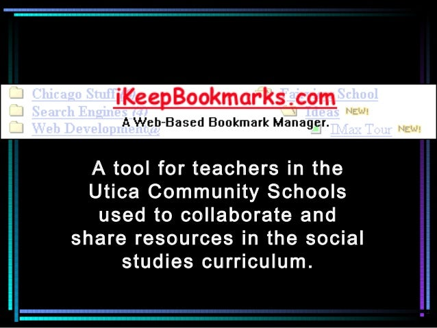 A tool for teachers in the Utica Community Schools used to collaborate and share resources in the social studies curriculu...