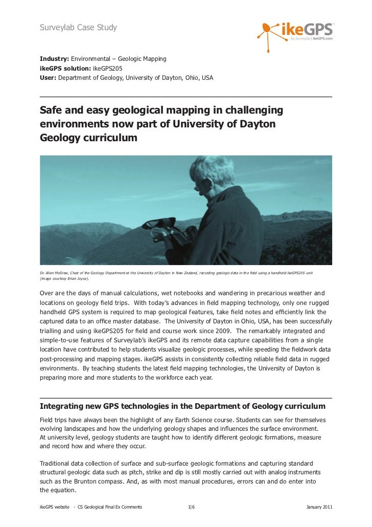 IkeGPS Geological Case Study