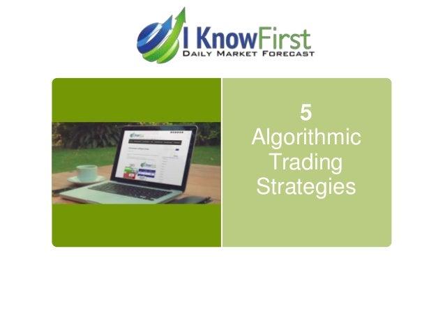 5 Algorithmic Trading Strategies