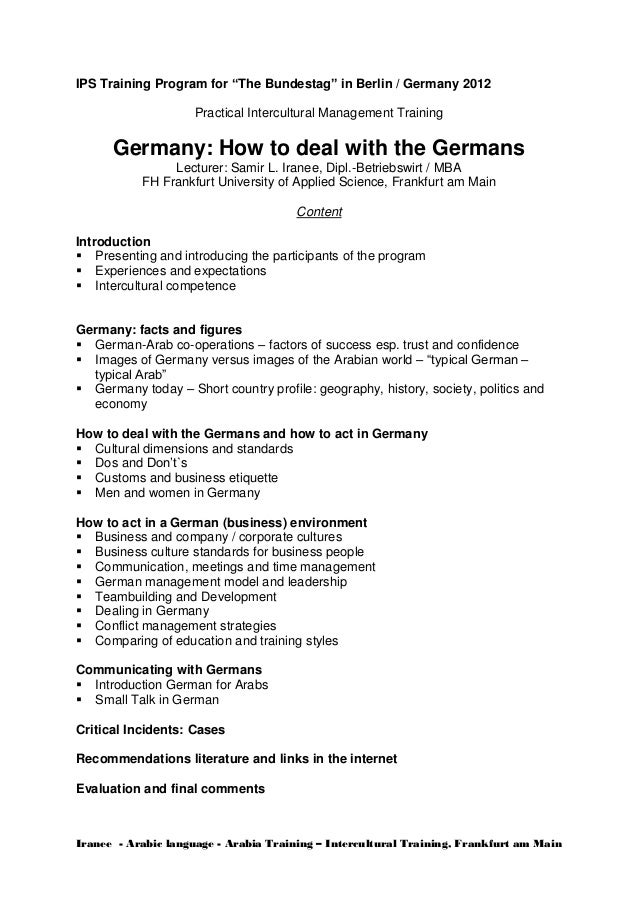 "IPS Training Program for ""The Bundestag"" in Berlin / Germany 2012 Practical Intercultural Management Training  Germany: Ho..."