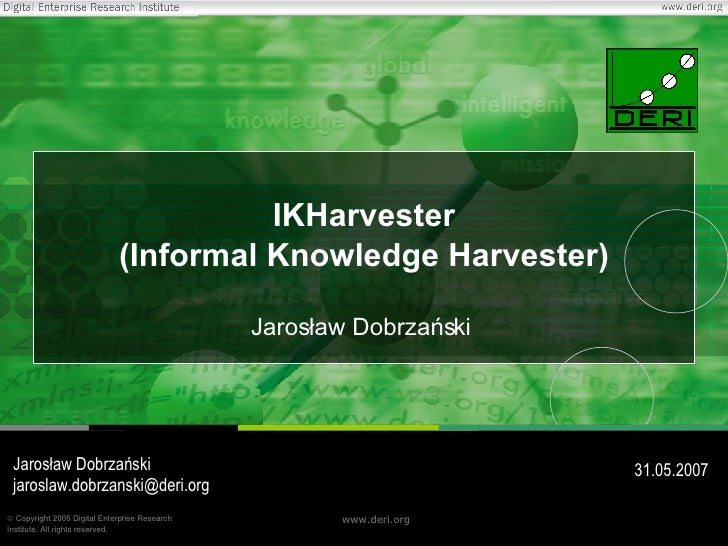 IKHarvester - Informal Knowledge Harvester