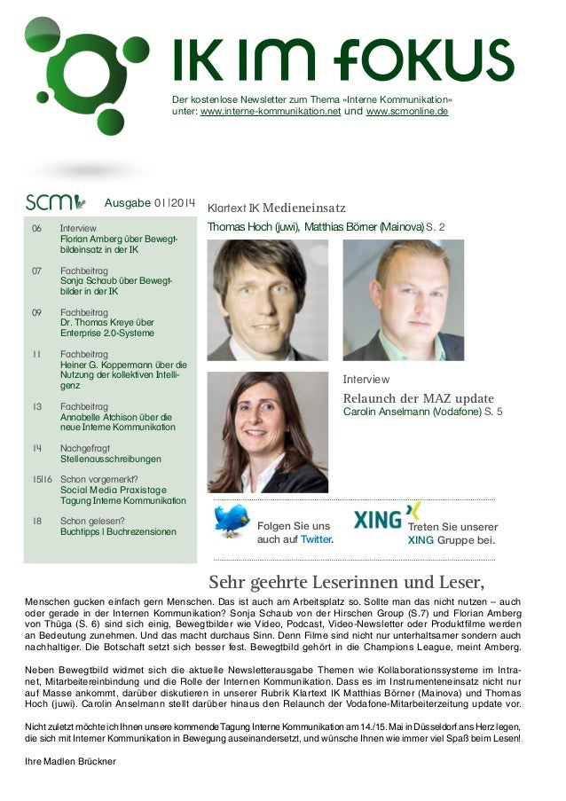 Interne Kommunikation im Fokus 2014/01