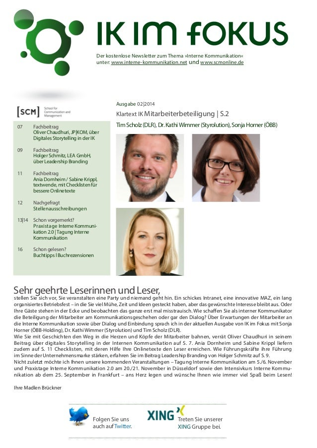 Newsletter IK im Fokus 2/2014