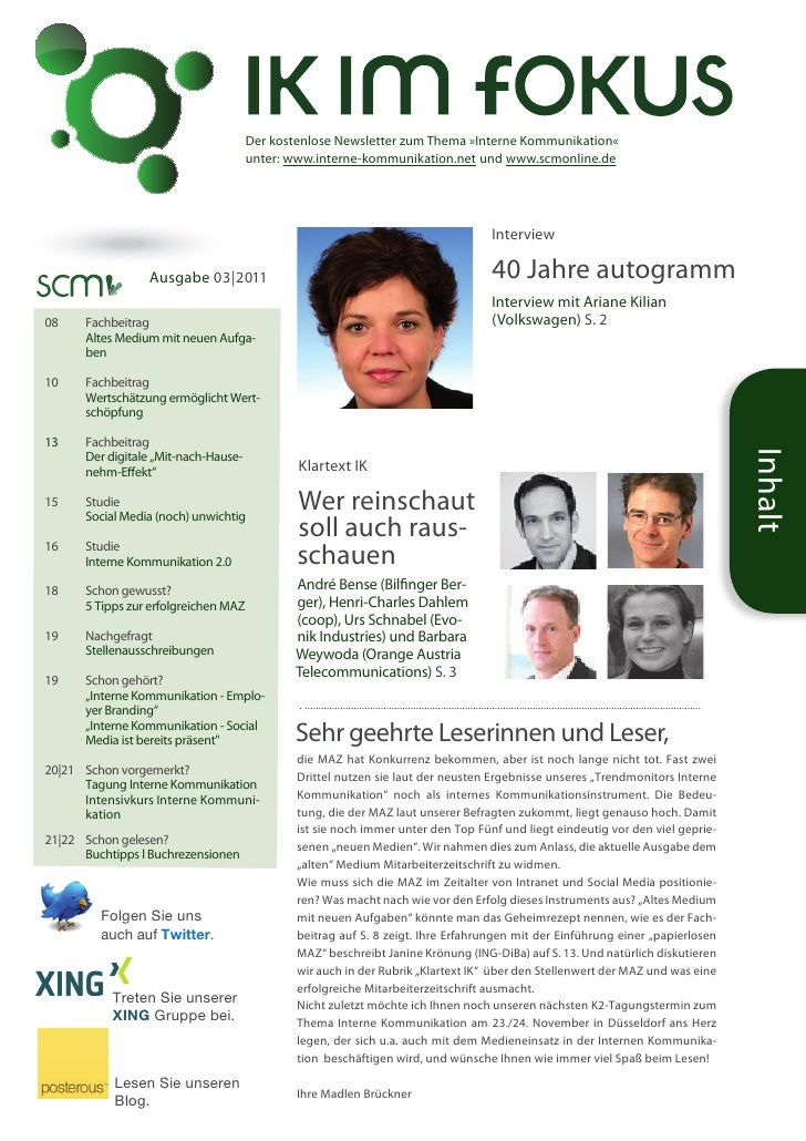 Newsletter IK im Fokus 03/11