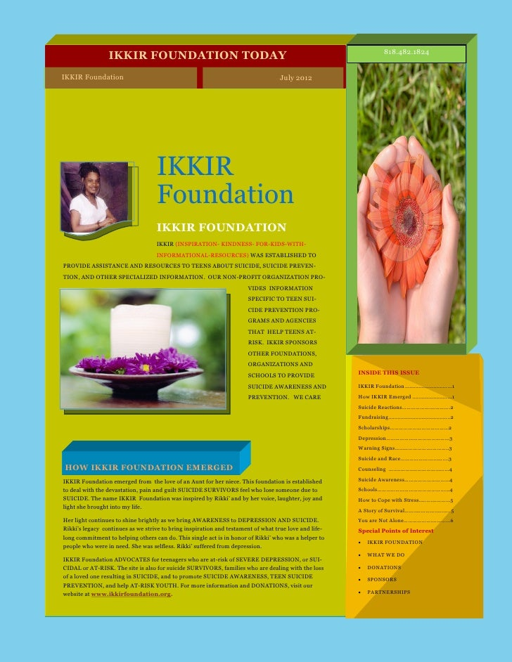 IKKIR Foundation Newsletter July  2012