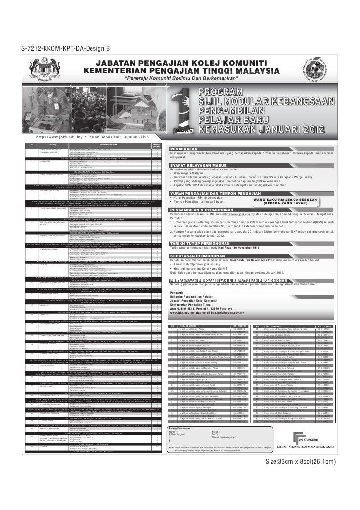 Iklan Kemasukan Kolej Komuniti 2012