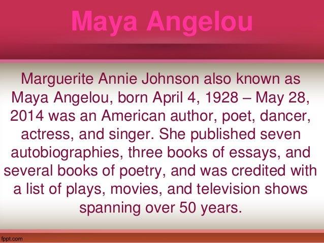 maya angelous life essay