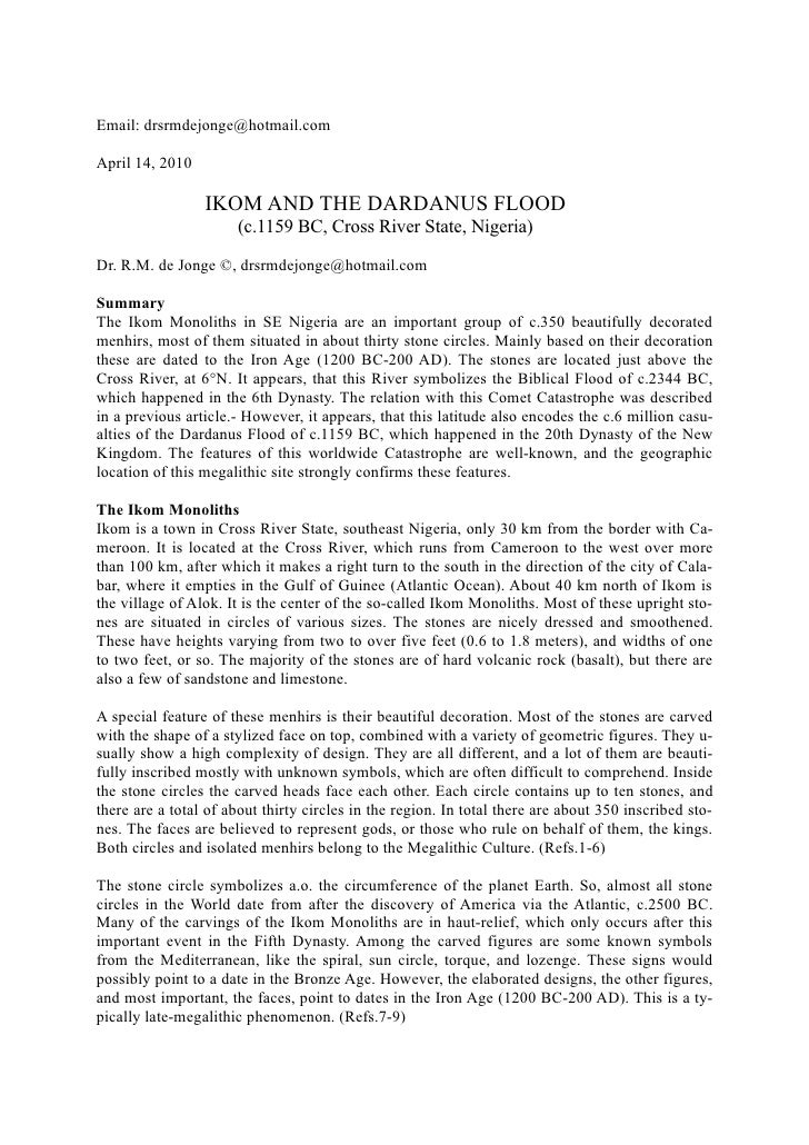 IKOM AND DARDANUS FLOOD