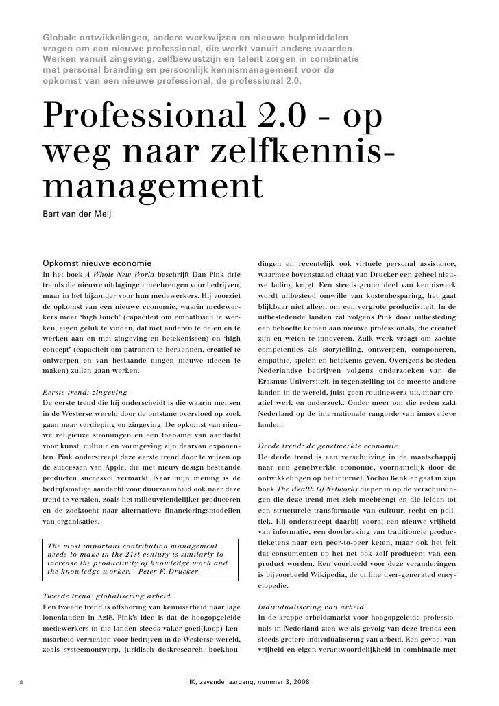 Professional 2.0: op weg naar zelfkennismanagement