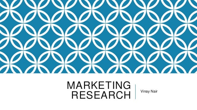 Marketing Research - An Online Perpective