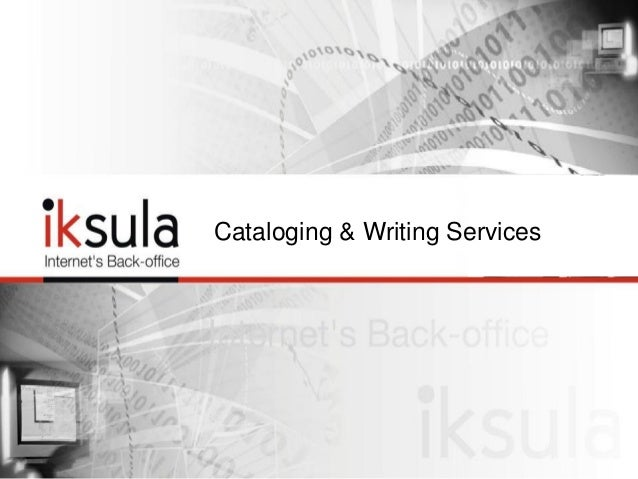 Cataloging & Writing Services