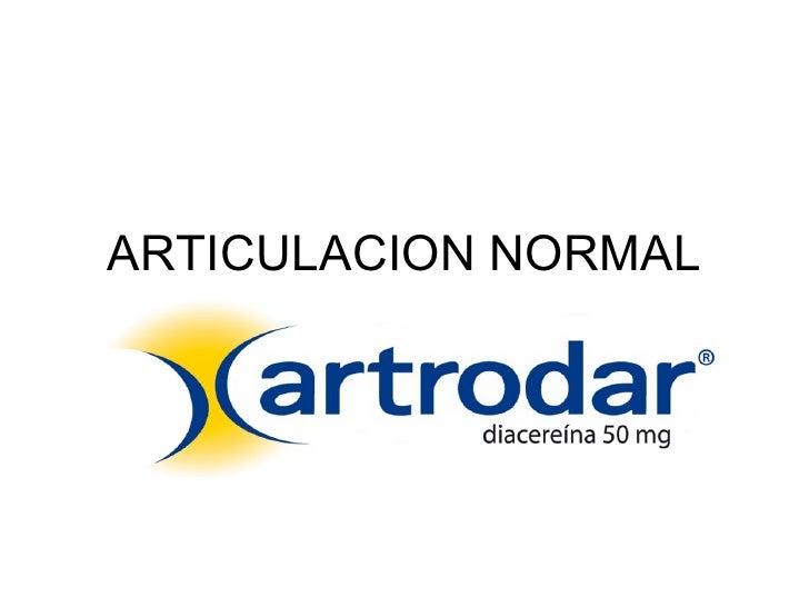 ARTICULACION NORMAL