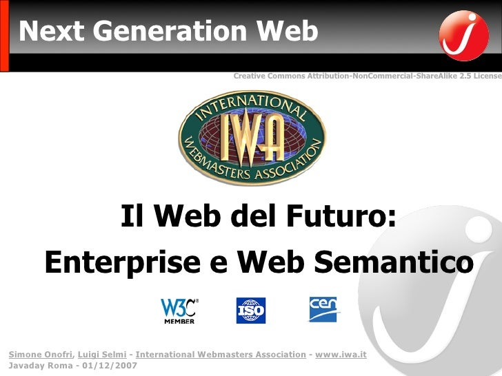 Next Generation Web                                                 Creative Commons Attribution-NonCommercial-ShareAlike ...