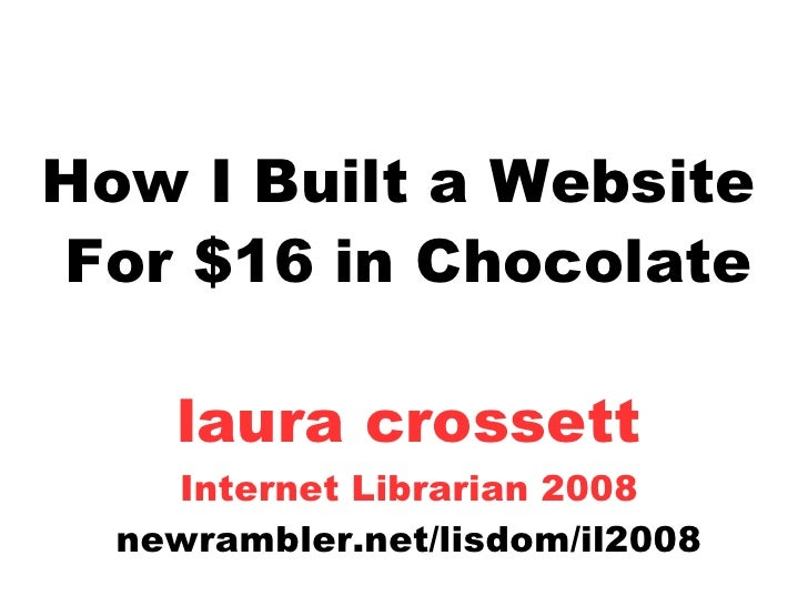 How I Built a Website for $16 in Chocolate