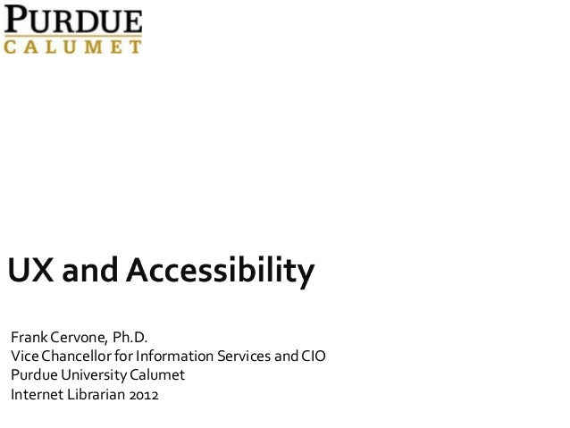 UX and Accessibility