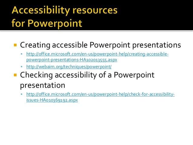 WebAIM PowerPoint Accessibility