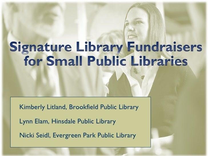 Hinsdale PL Fundraising Presentation