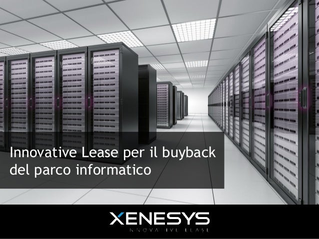 Innovative Lease per il buyback del parco informatico