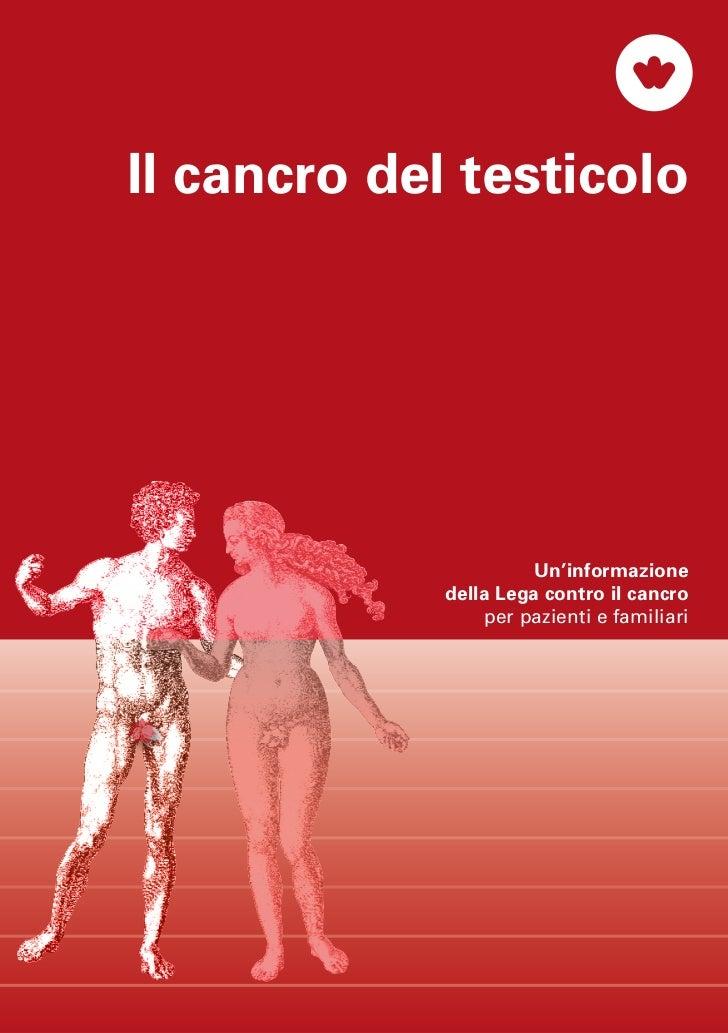 Il cancro del testicolo. Manuale per pazienti e familiari, edito dalla Lega svizzera contro il cancro.