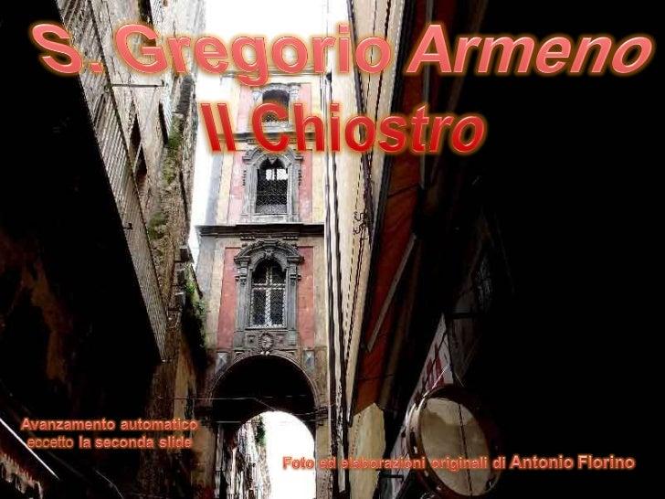 Il chiostro di s. gregorio armeno versione italiana