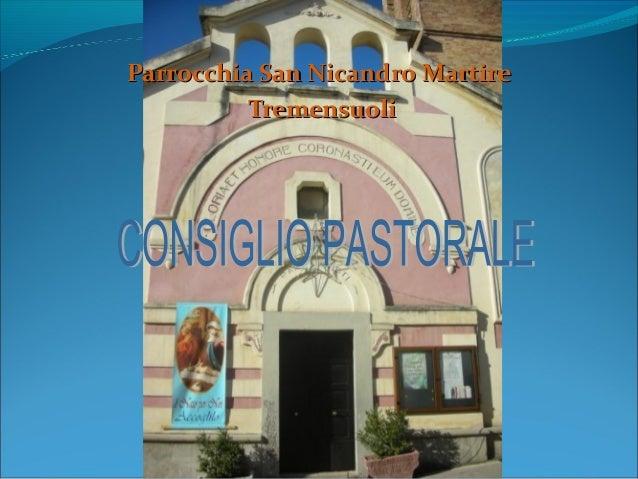 Il consiglio pastorale parrocchiale definitivo