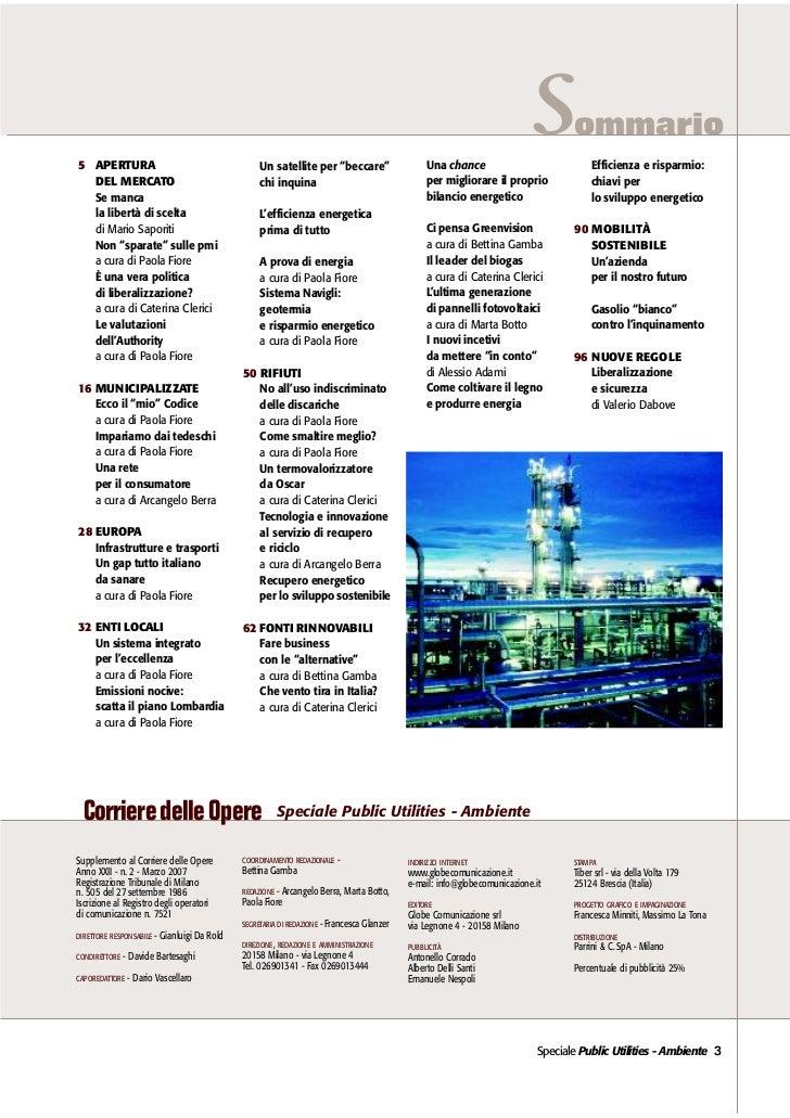 Il Corriere delle Opere - Speciale Public Utilities e Ambiente 2007