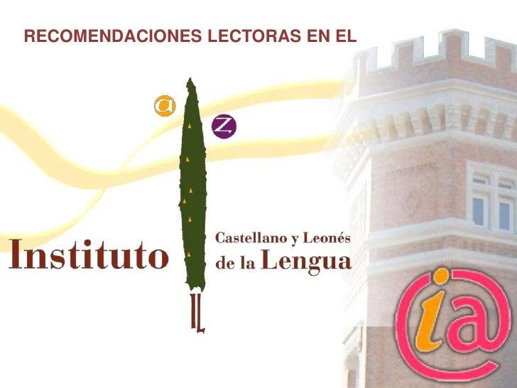 RECOMENDACIONES LECTORAS EN EL